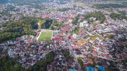 Aerial view at Bukittingi city,West Sumatra,Indonesia