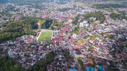 Aerial view at Bukittingi city,West Sumatra,Indonesia