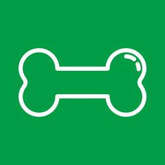Knochen - Icon, Symbol, Piktogramm, Bildmarke, grafisches Element - grün, weiß - Web, Druck - Vektor