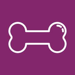 Knochen - Icon, Symbol, Piktogramm, Bildmarke, grafisches Element - violett, weiß - Web, Druck - Vektor