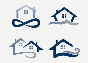 Real Estate Logo Set Template Design Vector, Emblem, Design Concept, Creative Symbol, Icon