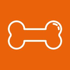 Knochen - Icon, Symbol, Piktogramm, Bildmarke, grafisches Element - orange, weiß - Web, Druck - Vektor