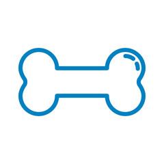 Knochen - Icon, Symbol, Piktogramm, Bildmarke, grafisches Element - blau, weiß - Web, Druck - Vektor