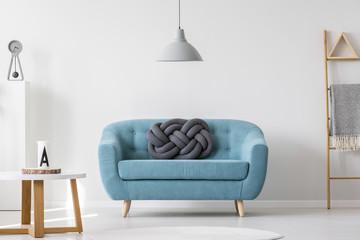 Turquoise living room interior