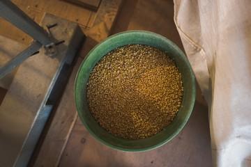 Refined wheat in bucket