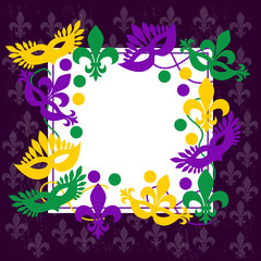 Mardi gras. Elegant frame. Place for your text.
