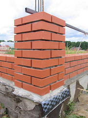 Construction of a New Brick Fence