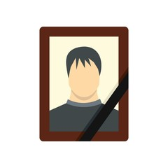 Memory portrait icon, flat style