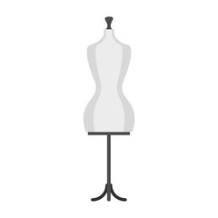 Mannequin icon, flat style