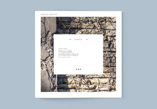 Diseño de catálogo cuadrado