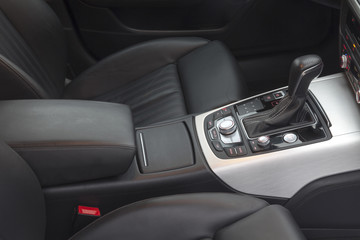 gear lever in the modern car, detail Interior