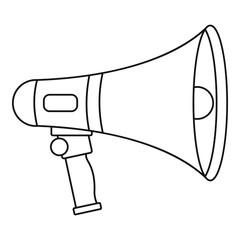 Loudspeaker icon, outline style