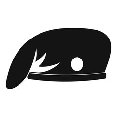 Military cap icon, simple style