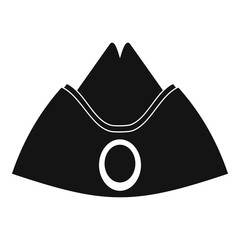 Forage cap icon, simple style