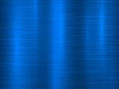 Blue metal technology horizontal background with polished, brushed texture, chrome, silver, steel, aluminum for design concepts, wallpapers, web, prints and interfaces. Vector illustration.