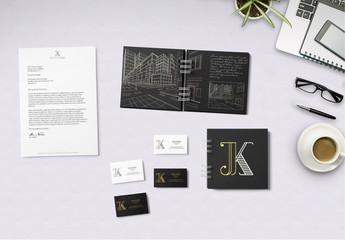 Spiralnotizbuch- und Briefpapiermodelle