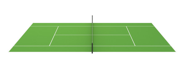 Tennis Court Isolated