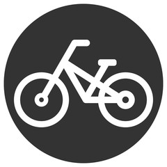 Bicycle icon in circle. Vector.