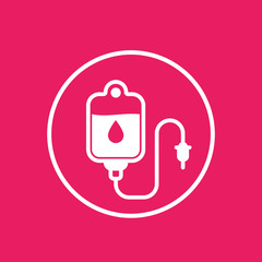 iv bag, drip vector icon