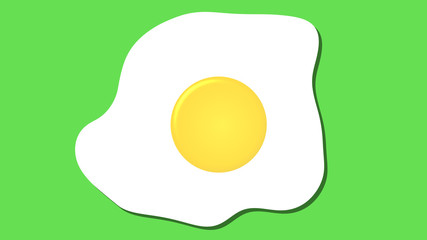 fried egg icon, cartoon food graphic pink