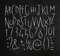 Alphabet sharp lines font black