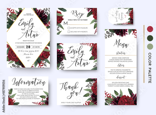Quot Wedding Invite Invitation Save The Date Rsvp Thank You