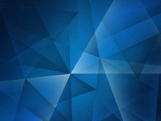 abstract blue background with triangles shapes layered in contemporary modern art design