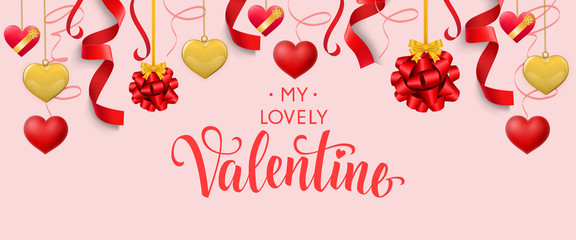 My Lovely Valentine Calligraphic Lettering