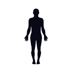 human body silhouette icon