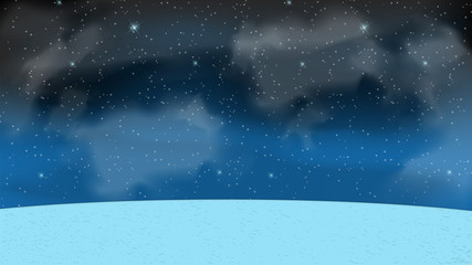 Naturalistic Starry Sky at Night. Vector Illustration.