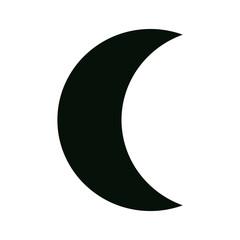 moon phase crescent shape icon
