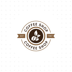Vintage vector coffee logo and label. Coffee logo template. Caffeine logotype. Retro vintage insignia. Retro coffee badge. Vector illustration