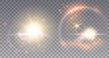 Two fairy suns with light effects