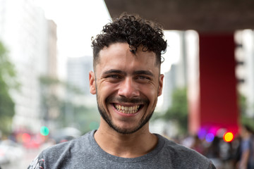 Potrait of Brazilian Gay Man Smiling