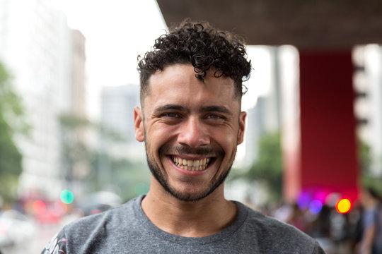 Potrait of Brazilian Gay Man Smiling