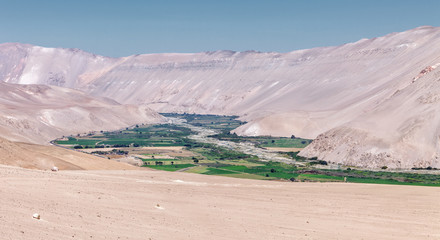 In the LLuta River Canyon is the Lluta Valley, between the Lauca National Park and the city of Arica