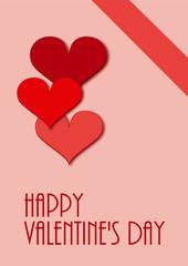 Valentinskarte in verschiedenen Rottönen mit Text. vektor Illustration
