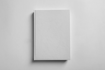 Mock up of book on white background