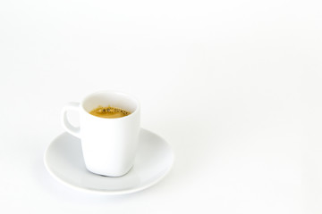 White cup of espresso
