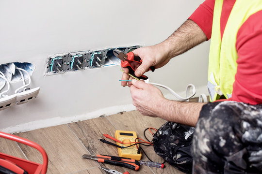 electrical work, electrician worker