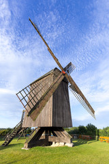 Aluminium Prints Mills old wind mill in Pudagla, Usedom