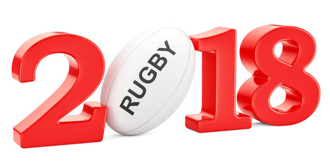 Rugby 2018 concept, 3D rendering