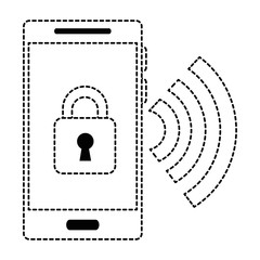 smartphone device with padlock