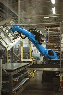 View of robotic machine