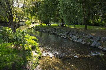 The stream in the Espelette village,France
