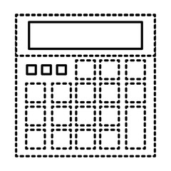 calculator device maths count icon vector illustration