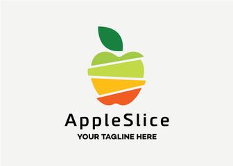 Apple Slice Logo Template Design Vector, Emblem, Design Concept, Creative Symbol, Icon