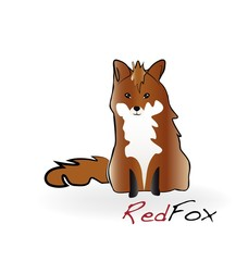 Fox illustration logo vector