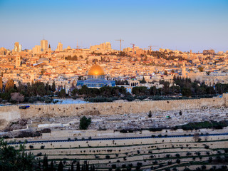 Sunrise over the old city - Jerusalem