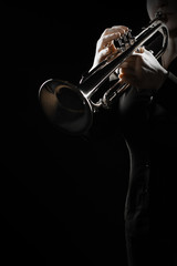 Photo sur Aluminium Musique Trumpet player jazz musician